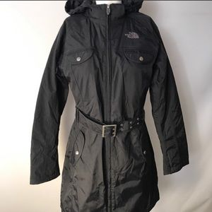 Women's Black The North Face Raincoat